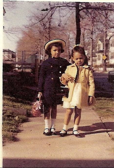 Ivy with friend on Easter Sunday (circa 1964)